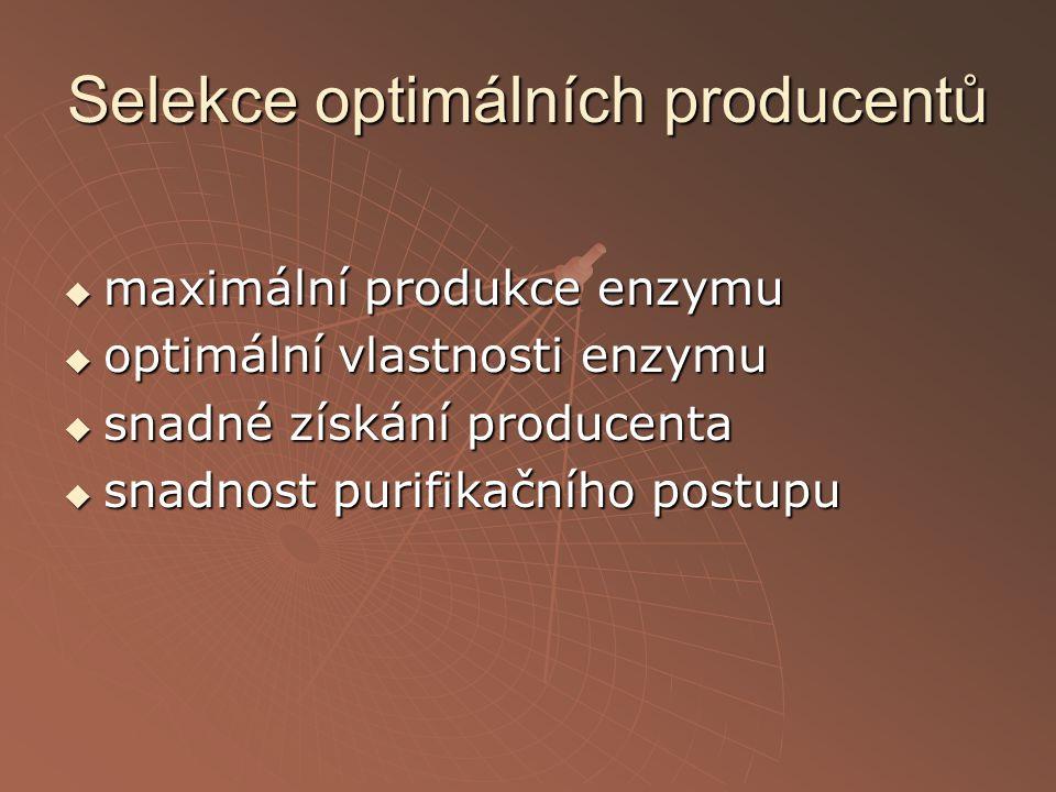 Selekce optimálních producentů