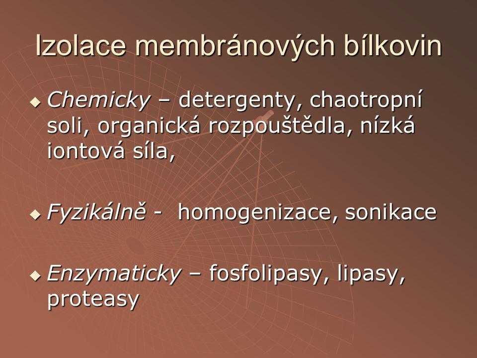 Izolace membránových bílkovin