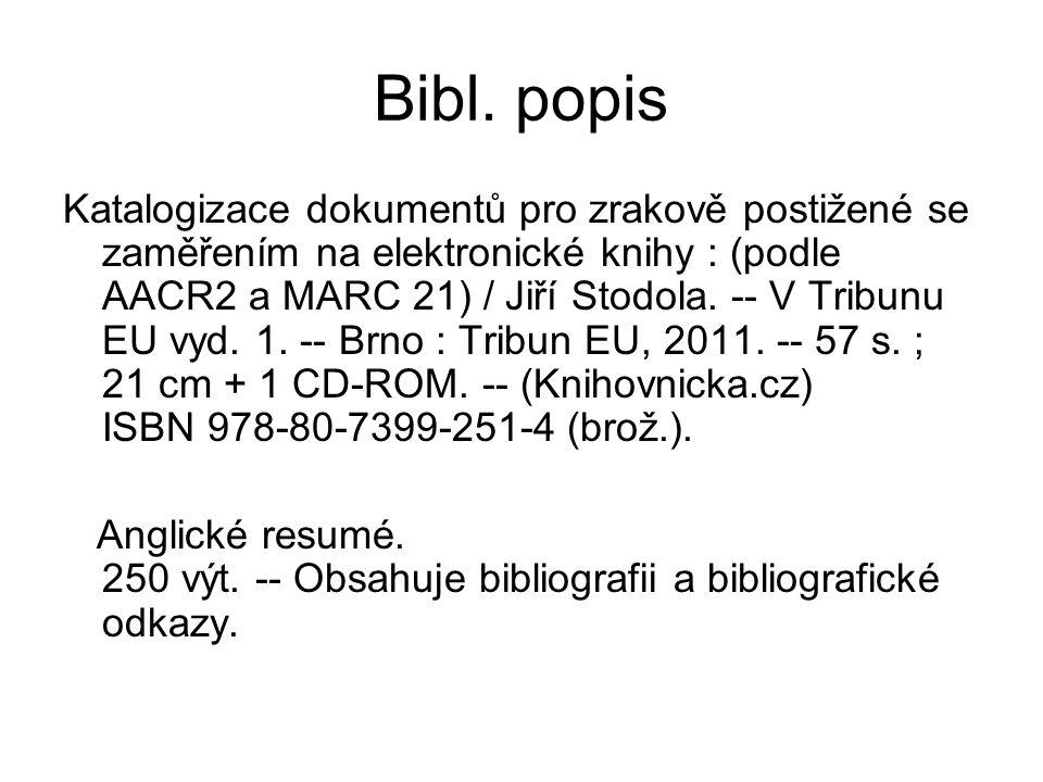 Bibl. popis