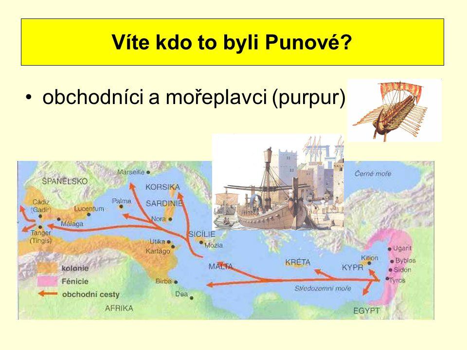 Víte kdo to byli Punové obchodníci a mořeplavci (purpur)