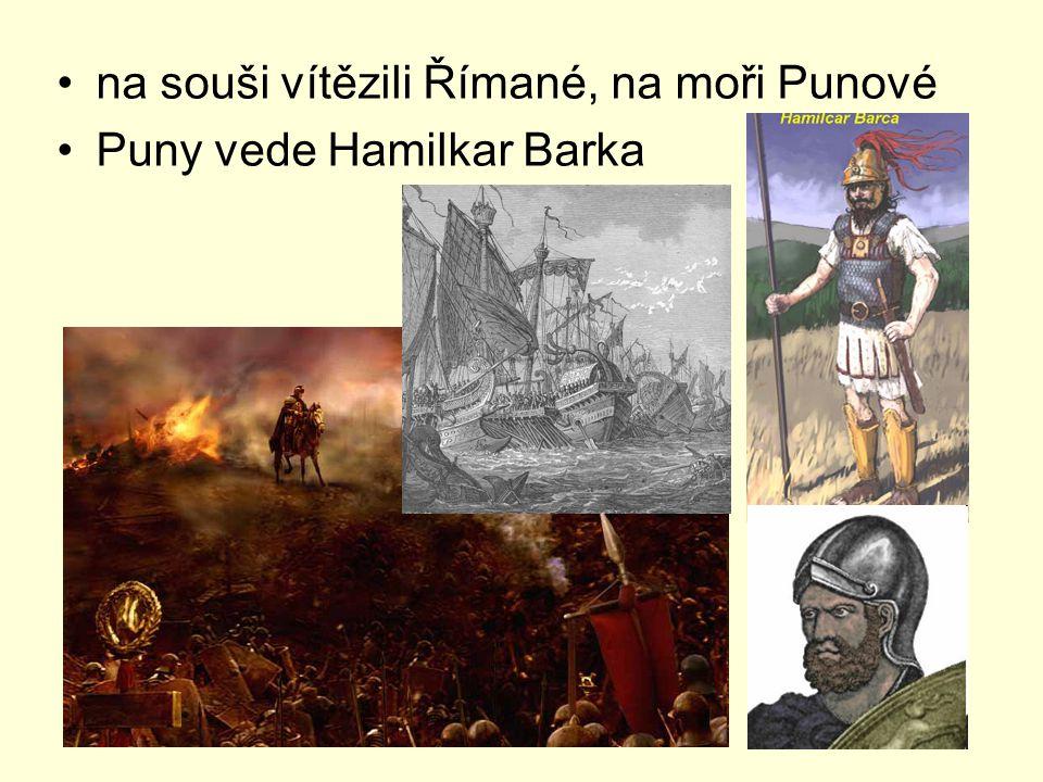 na souši vítězili Římané, na moři Punové