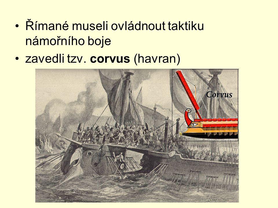 Římané museli ovládnout taktiku námořního boje