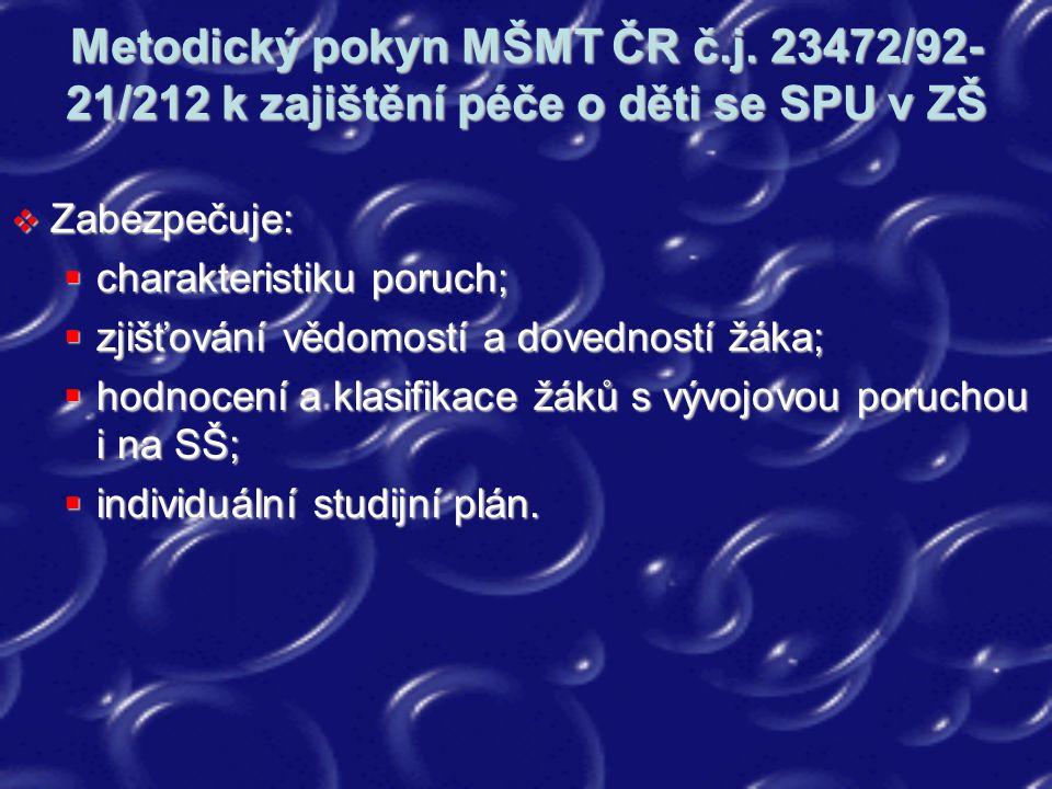 Metodický pokyn MŠMT ČR č. j