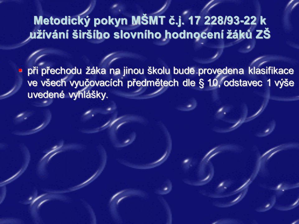 Metodický pokyn MŠMT č. j