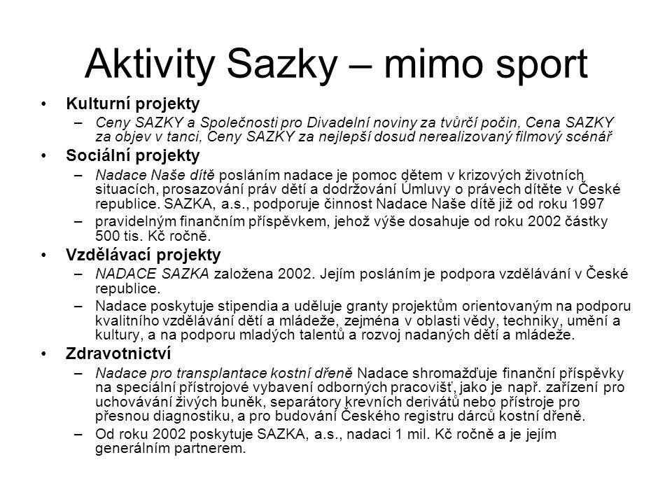 Aktivity Sazky – mimo sport
