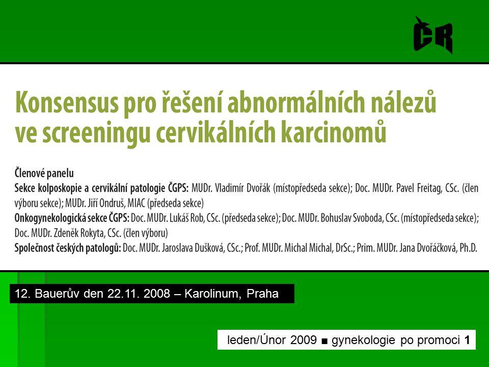 ČR 12. Bauerův den 22.11. 2008 – Karolinum, Praha