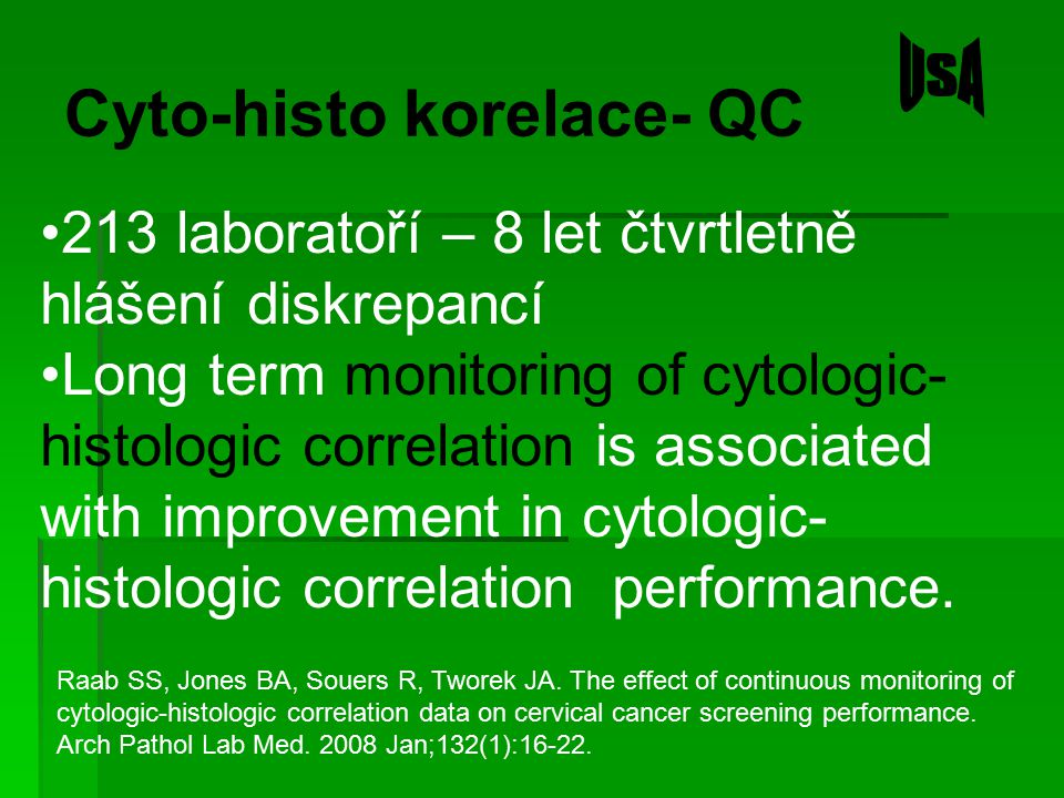 Cyto-histo korelace- QC