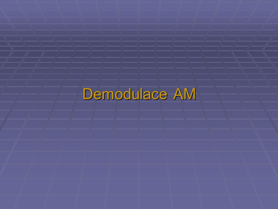 Demodulace AM
