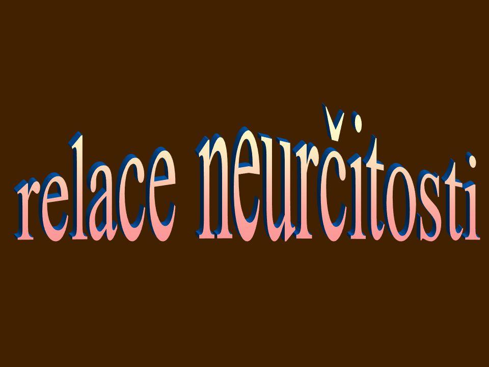 relace neurčitosti