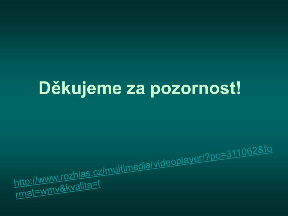 Děkujeme za pozornost! http://www.rozhlas.cz/multimedia/videoplayer/ po=311062&format=wmv&kvalita=f