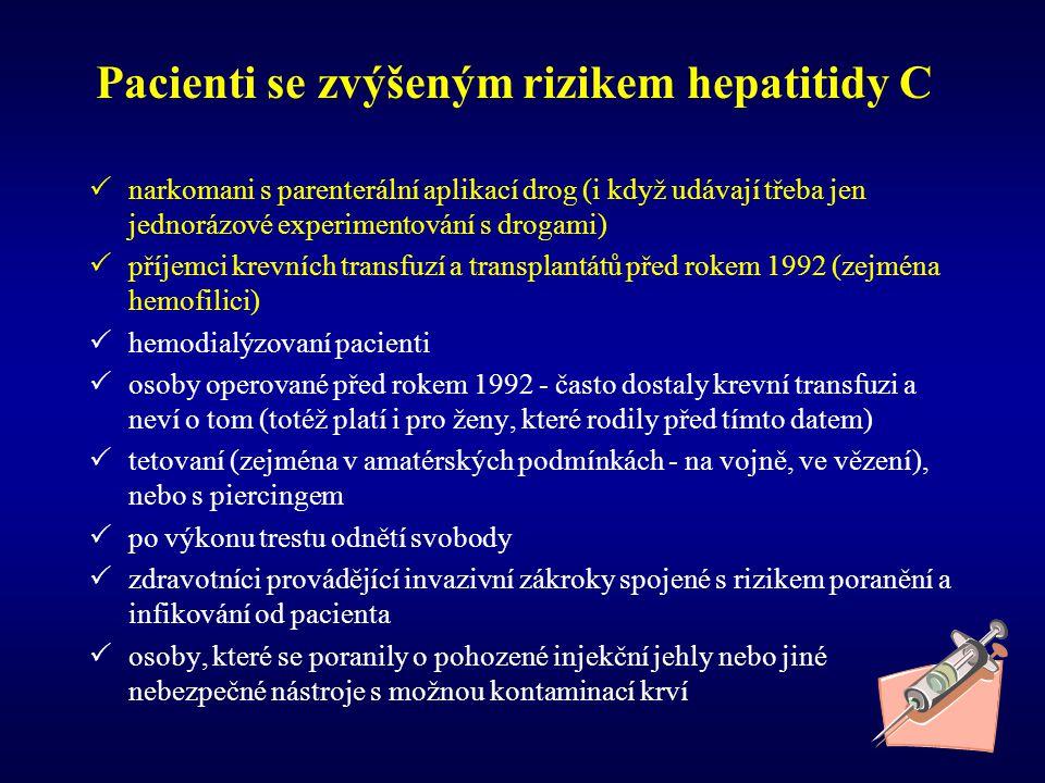 Pacienti se zvýšeným rizikem hepatitidy C
