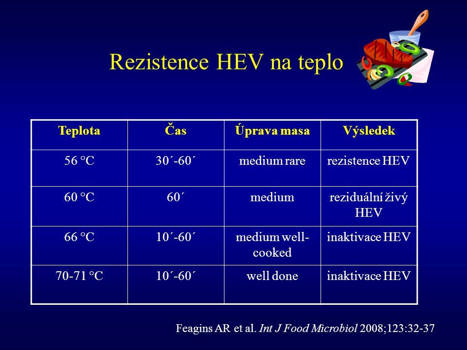 Rezistence HEV na teplo