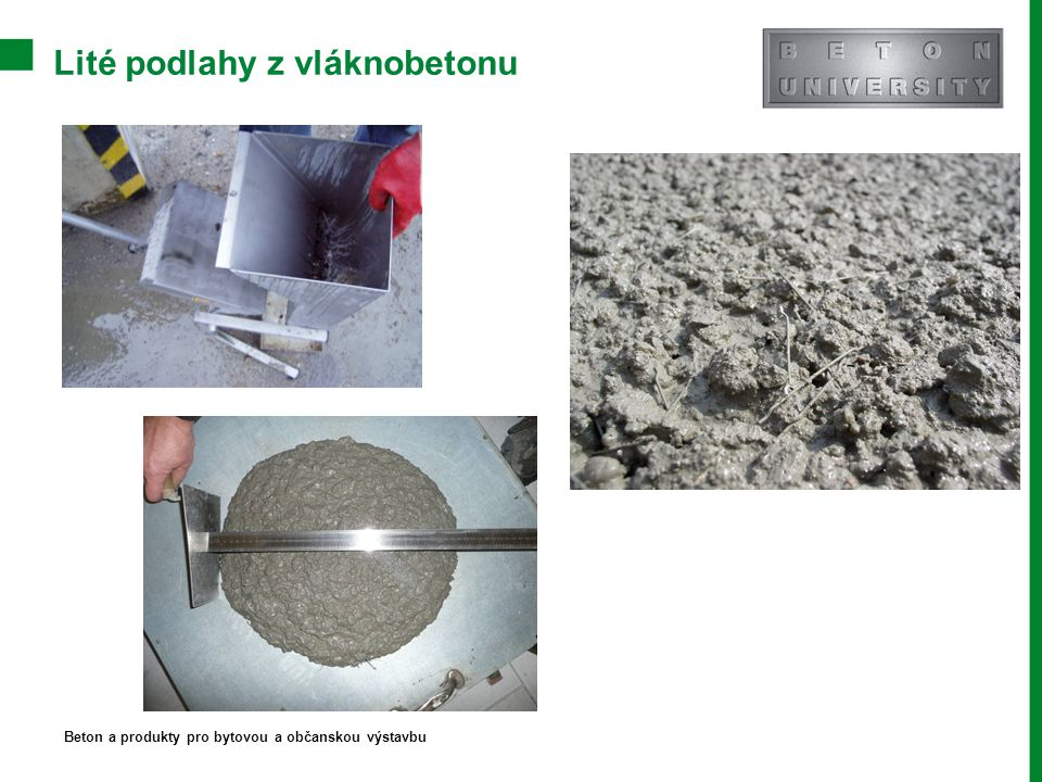 Lité podlahy z vláknobetonu