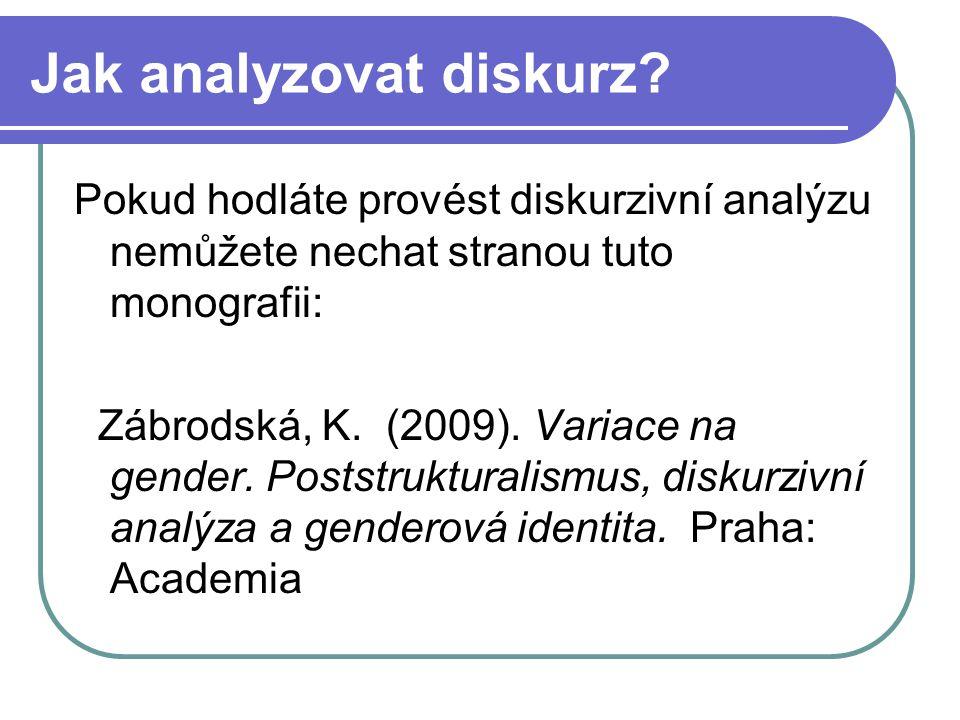Jak analyzovat diskurz