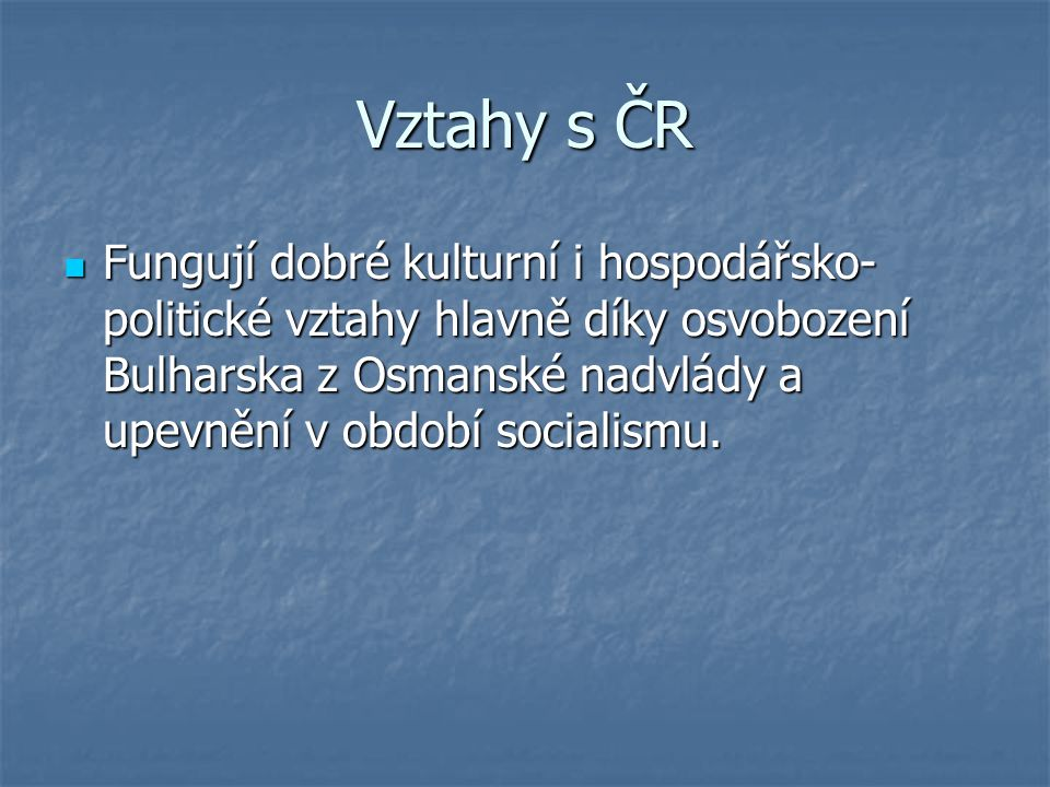 Vztahy s ČR