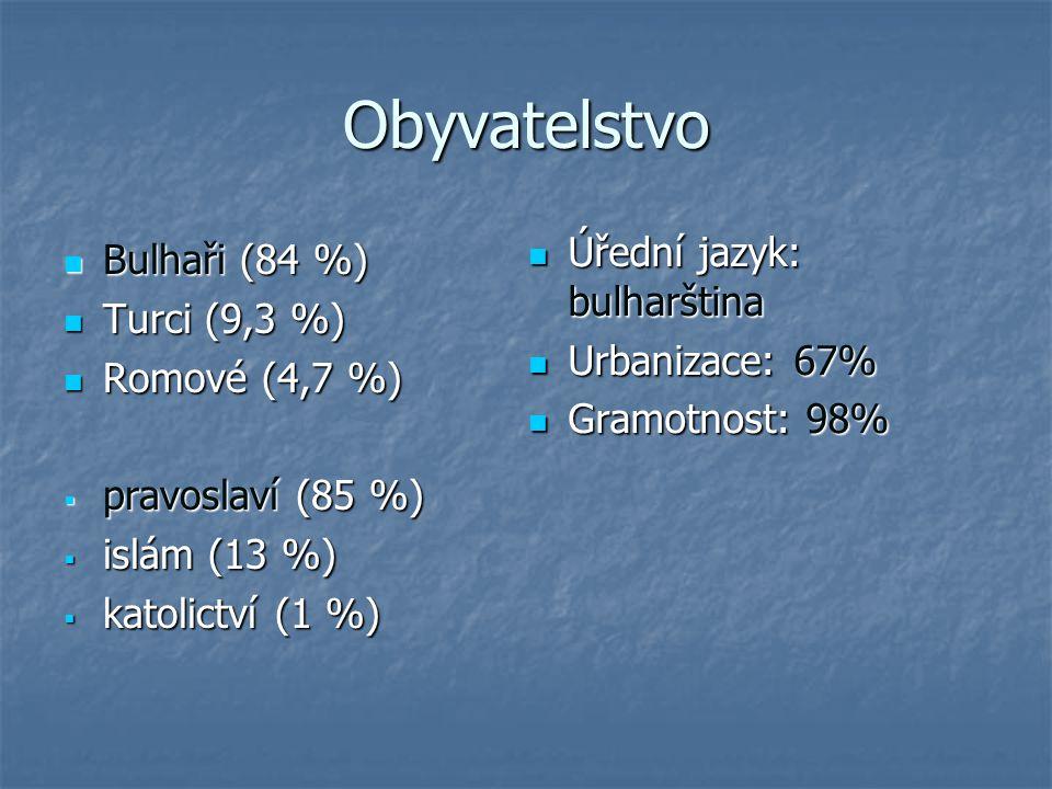 Obyvatelstvo Úřední jazyk: bulharština Bulhaři (84 %) Turci (9,3 %)