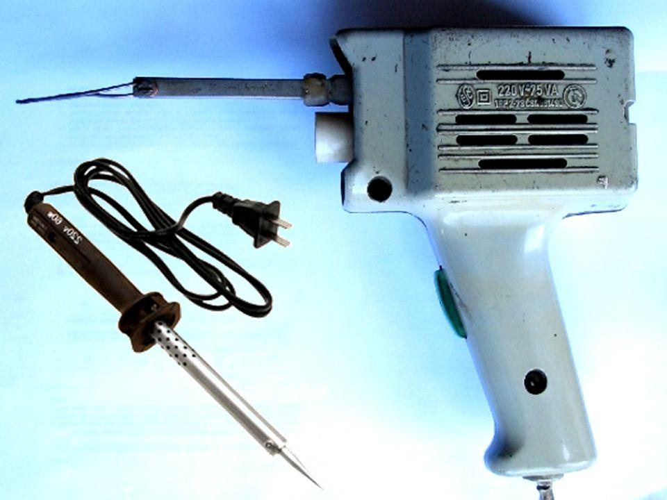 Páječka Páječka je elektrické nářadí pro tavení kovů při spojování součástek měkkým pájením.