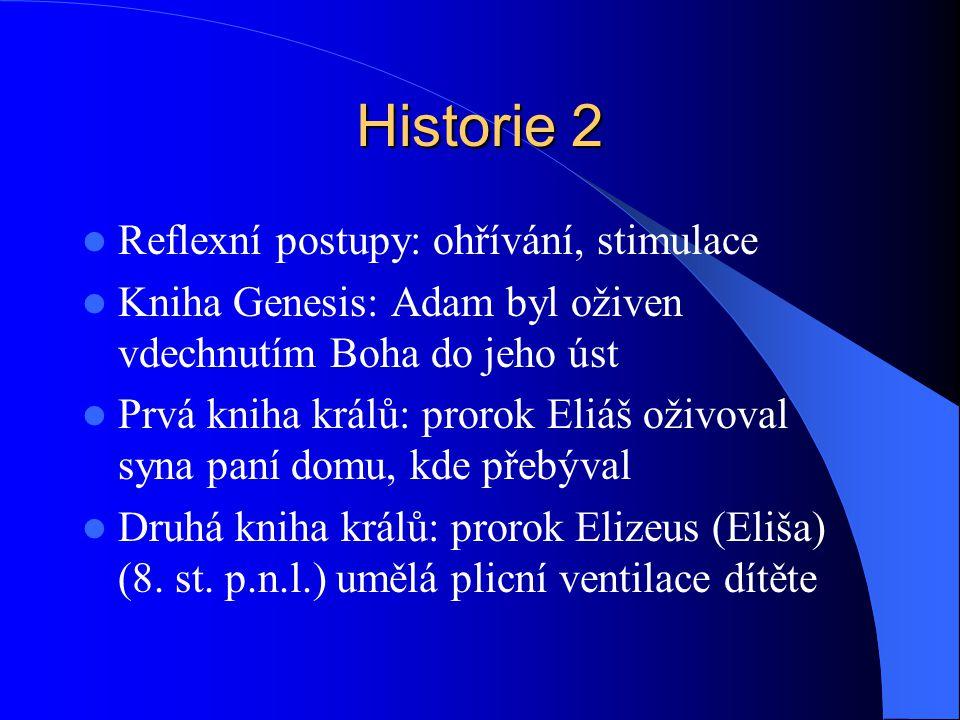Historie 2 Reflexní postupy: ohřívání, stimulace