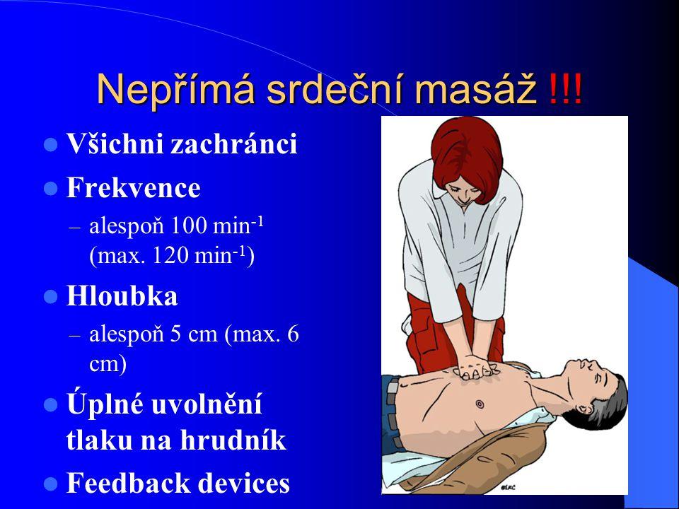 Nepřímá srdeční masáž !!! Všichni zachránci Frekvence Hloubka