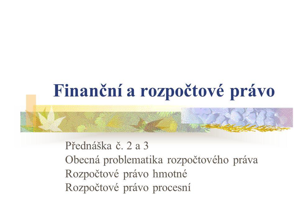 Finanční a rozpočtové právo