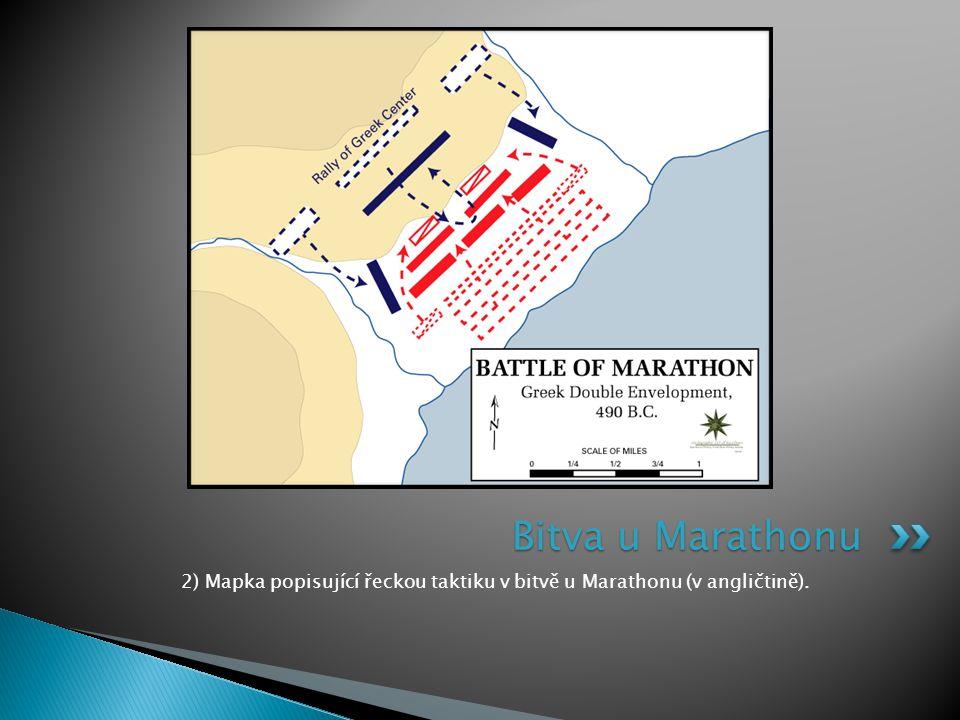 2) Mapka popisující řeckou taktiku v bitvě u Marathonu (v angličtině).