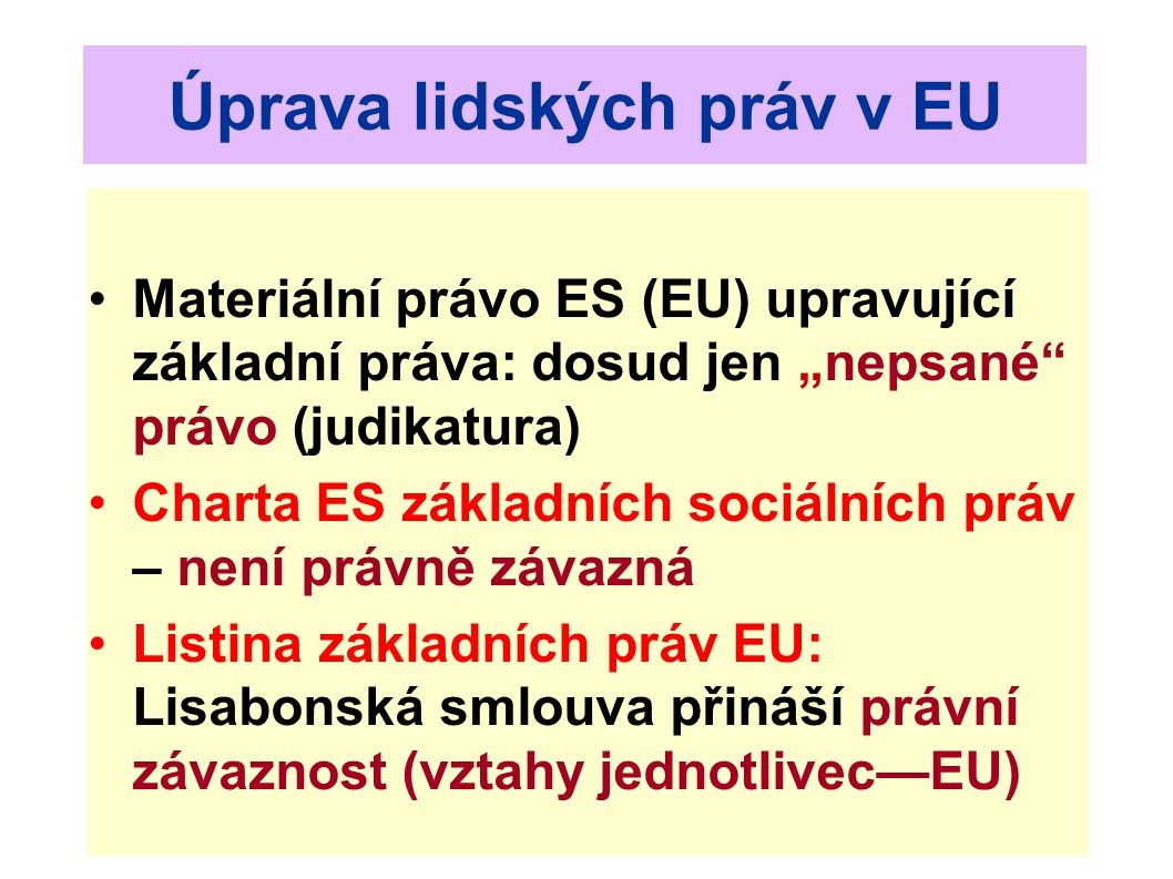 Úprava lidských práv v EU