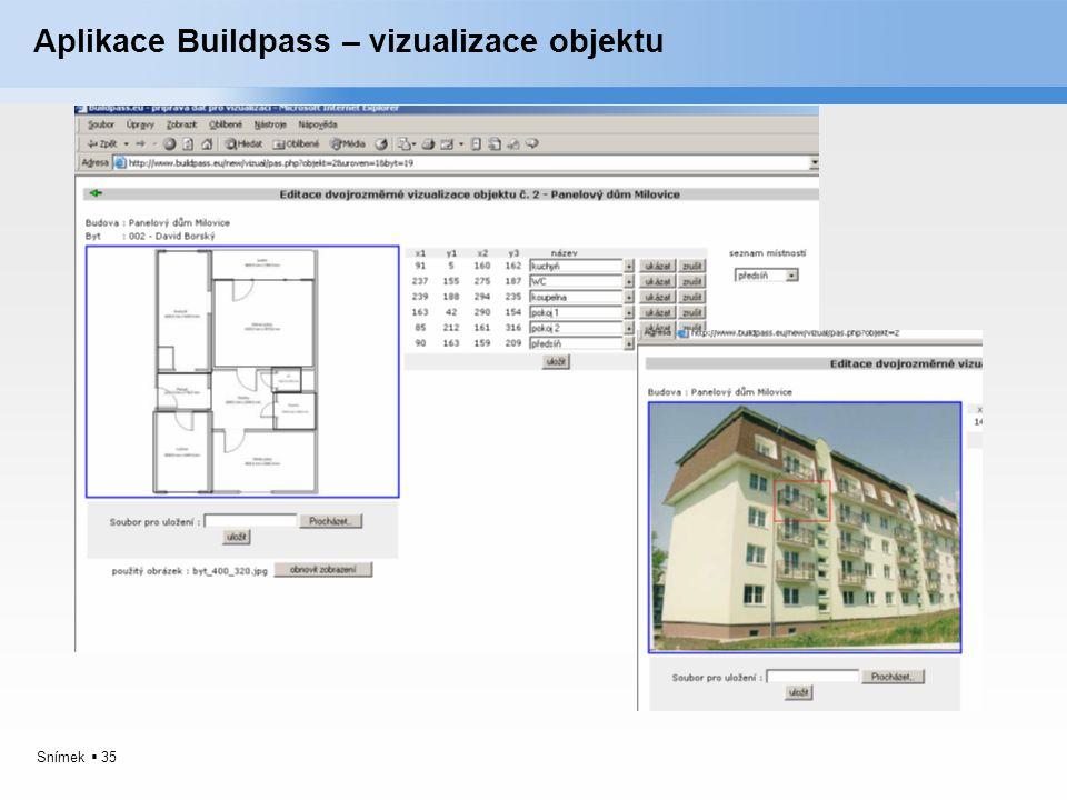 Aplikace Buildpass – vizualizace objektu
