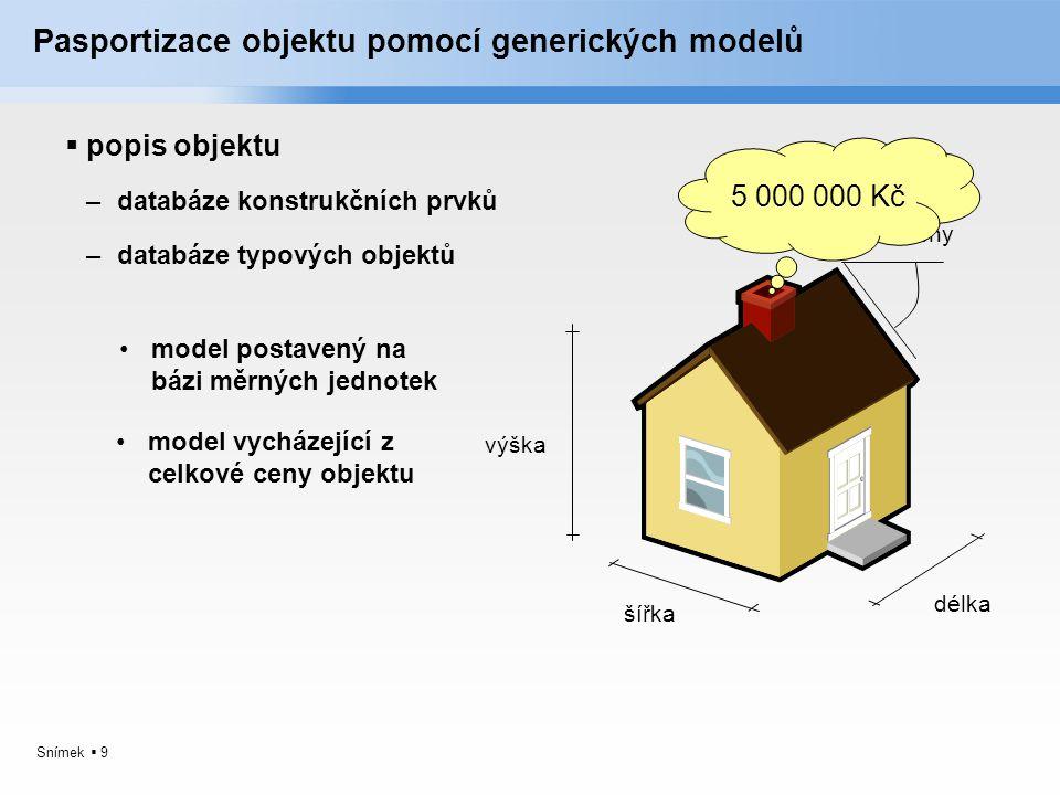 Pasportizace objektu pomocí generických modelů