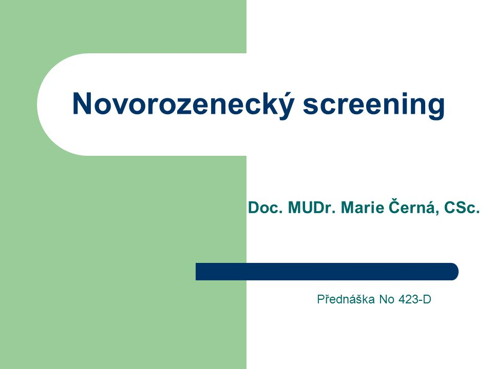 Novorozenecký screening