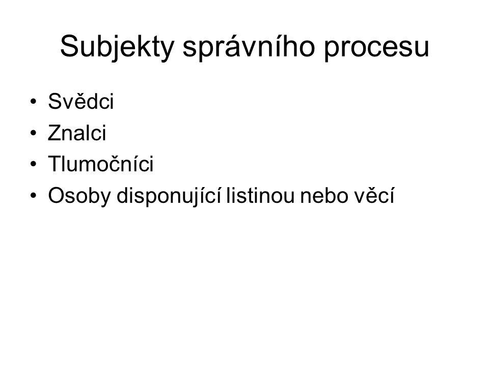 Subjekty správního procesu
