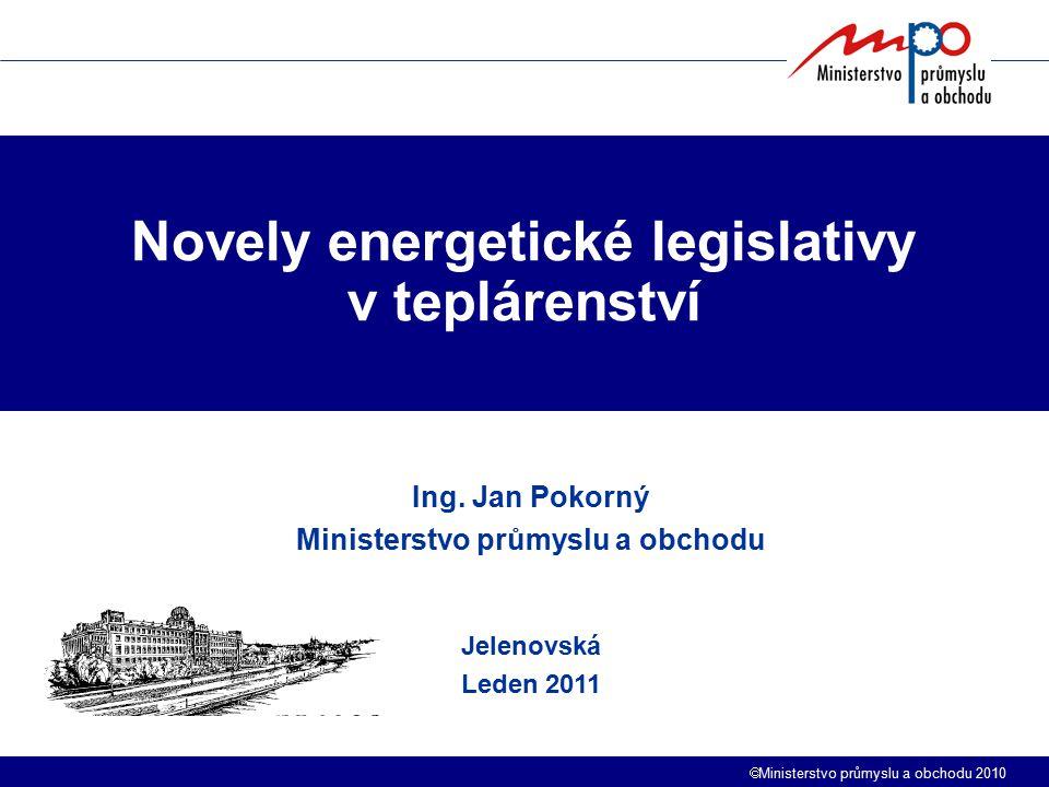 Novely energetické legislativy v teplárenství