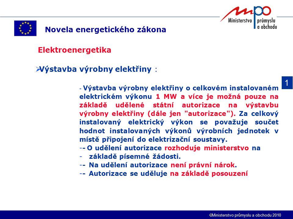 1 Novela energetického zákona Elektroenergetika