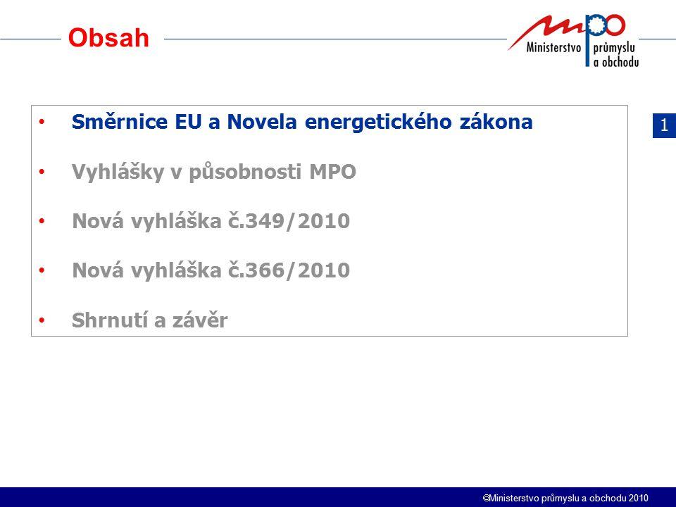Obsah Směrnice EU a Novela energetického zákona