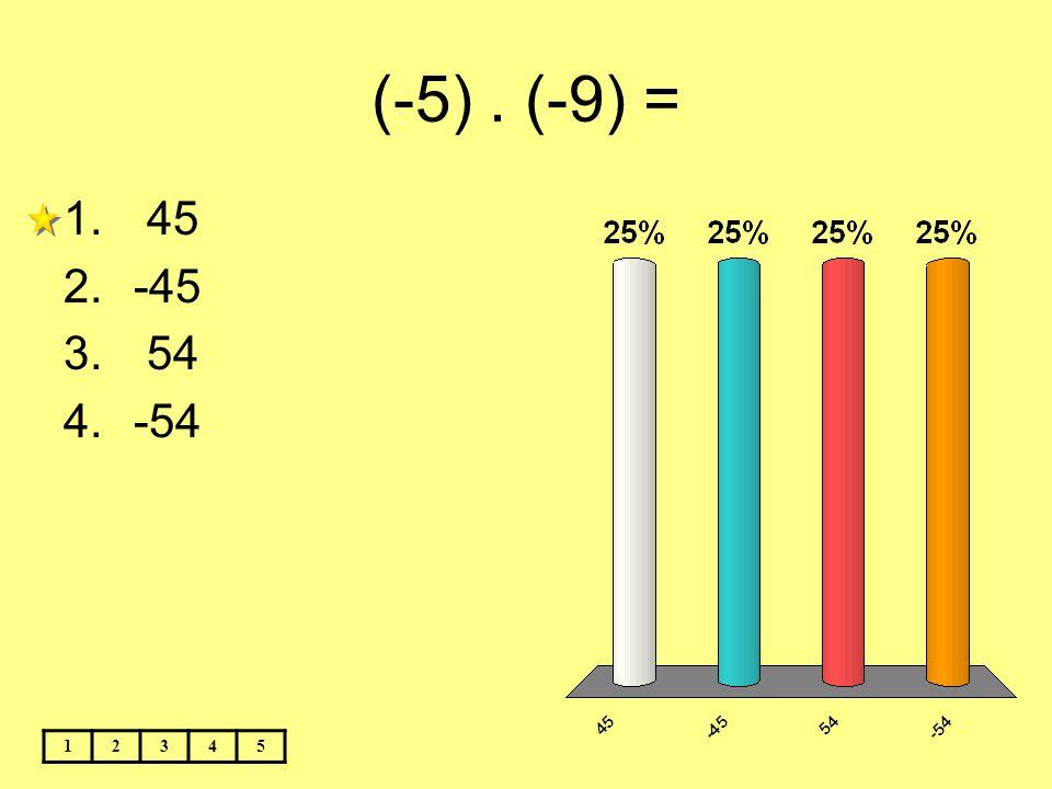 (-5) . (-9) = 45 -45 54 -54 1 2 3 4 5