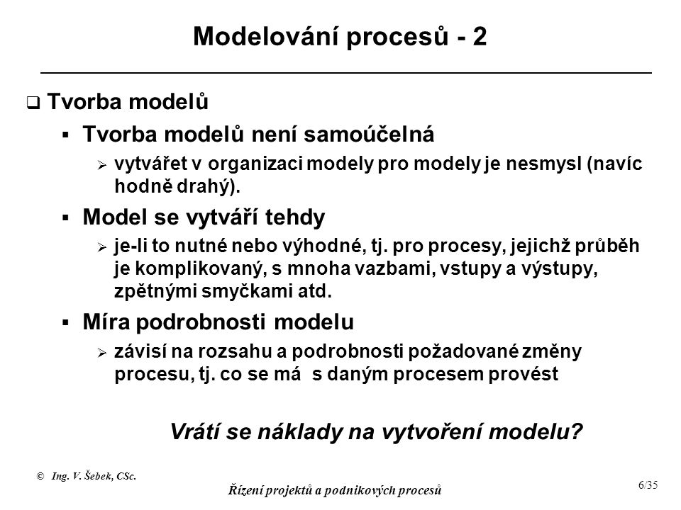 Vrátí se náklady na vytvoření modelu