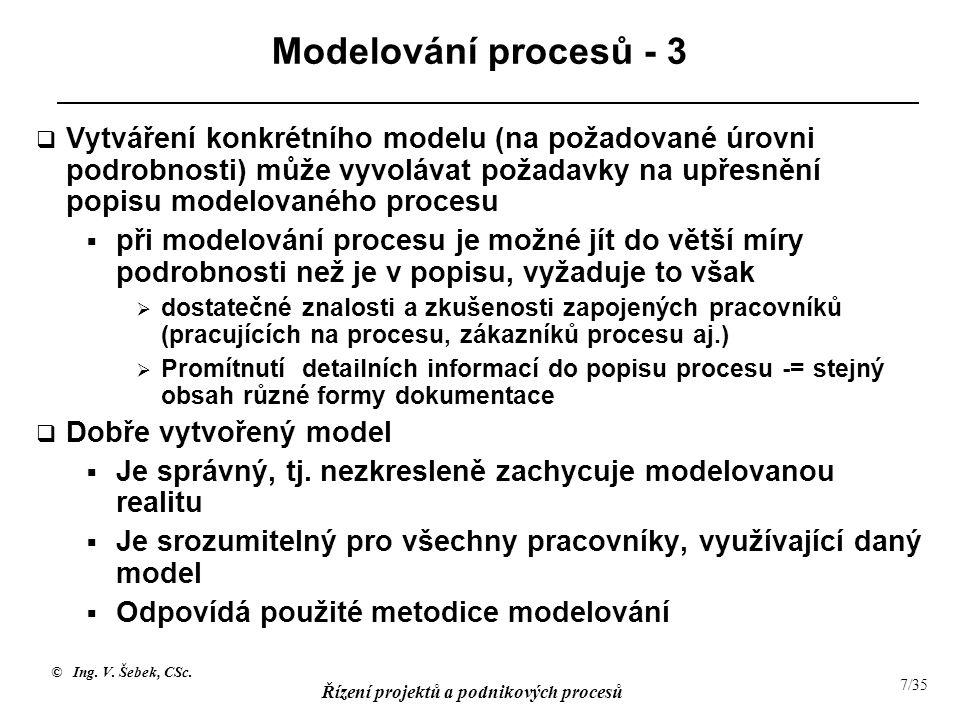 Modelování procesů - 3