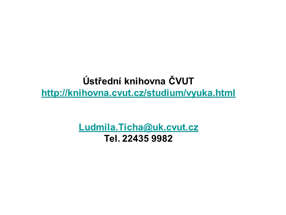 Ústřední knihovna ČVUT