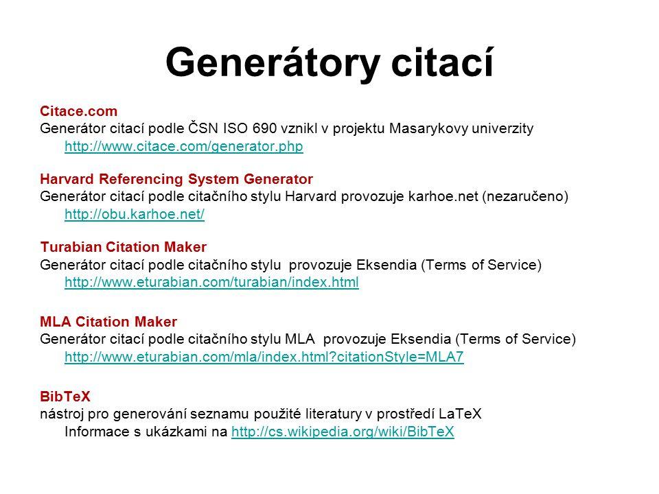 Generátory citací Citace.com