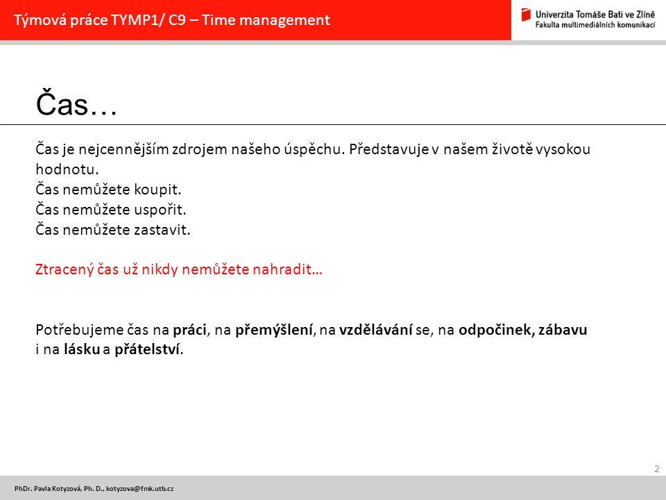 Čas… Týmová práce TYMP1/ C9 – Time management