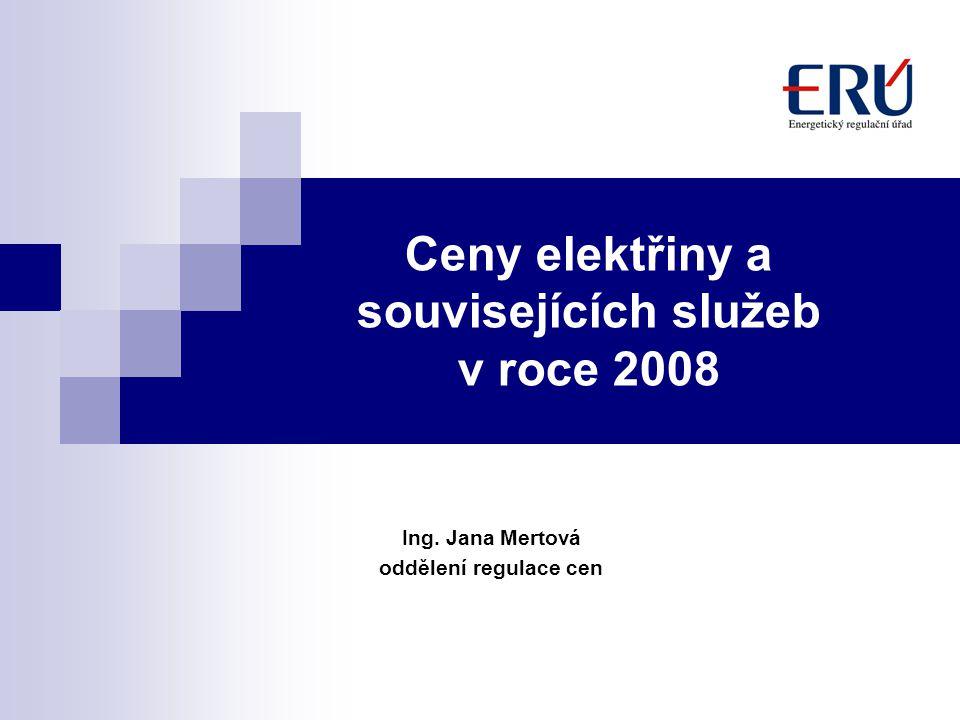 Ceny elektřiny a souvisejících služeb v roce 2008