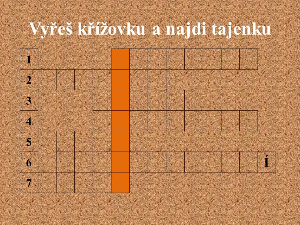 Vyřeš křížovku a najdi tajenku