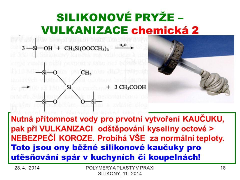 SILIKONOVÉ PRYŽE – VULKANIZACE chemická 2