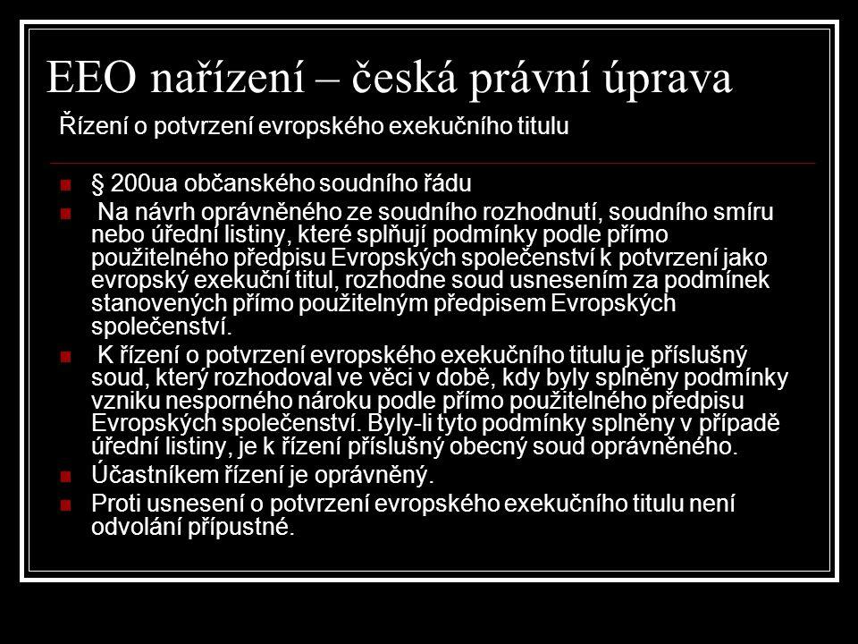 EEO nařízení – česká právní úprava