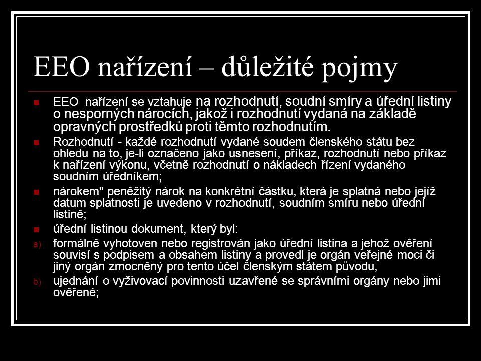 EEO nařízení – důležité pojmy