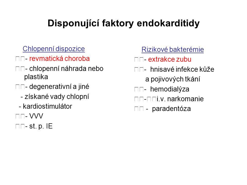Disponující faktory endokarditidy