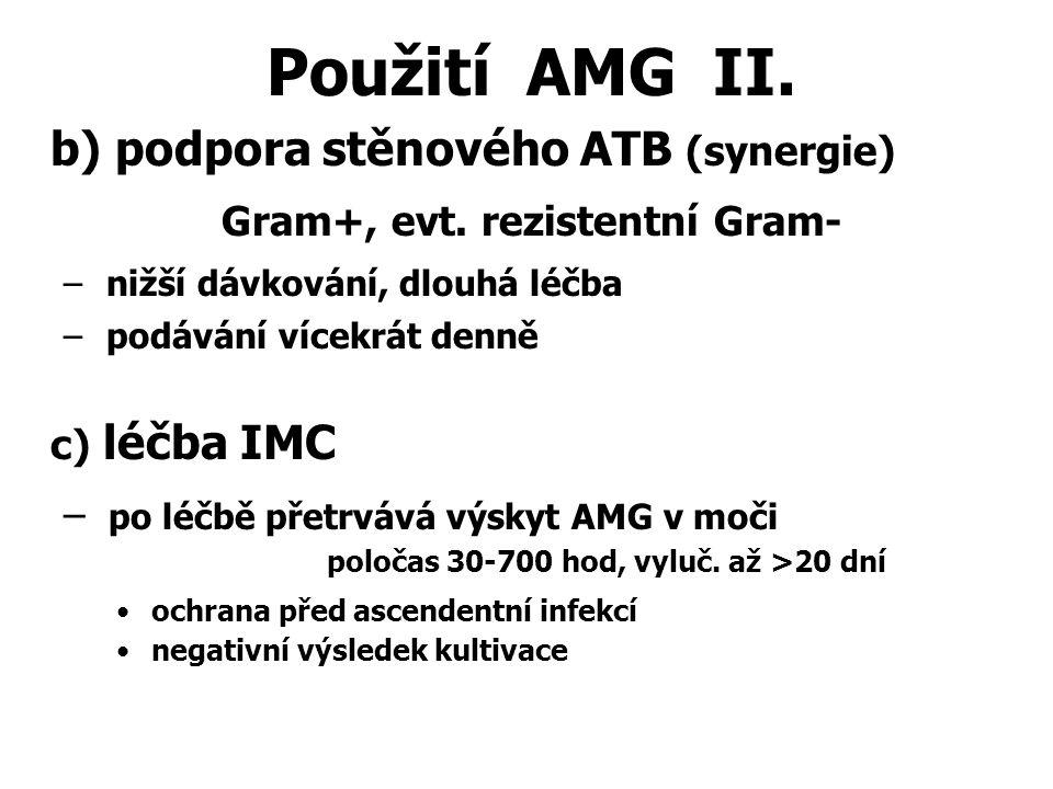Použití AMG II. b) podpora stěnového ATB (synergie)