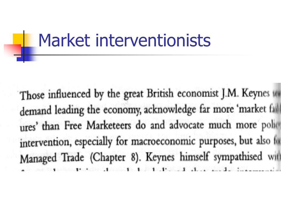 Market interventionists