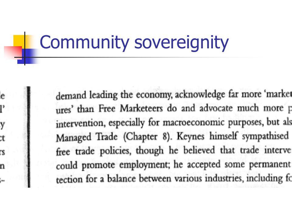 Community sovereignity