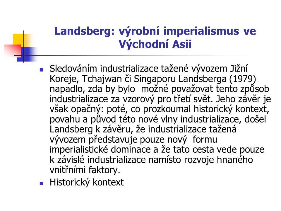 Landsberg: výrobní imperialismus ve Východní Asii