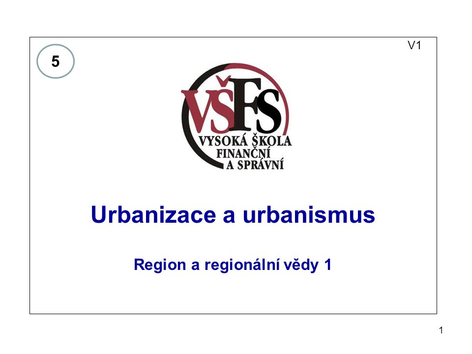 Urbanizace a urbanismus